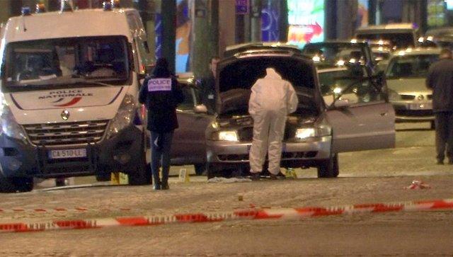Vehículo empleado en el atentado en los Campos Elíseos