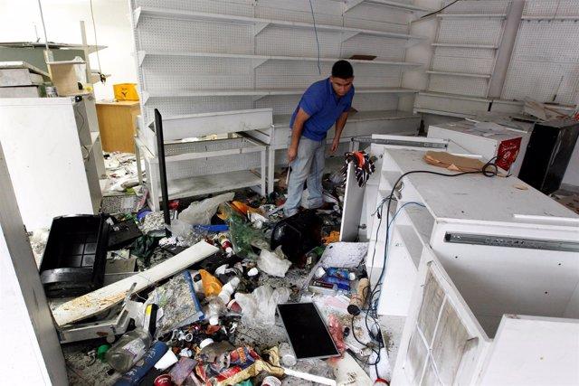 Establecimiento saqueado en Caracas