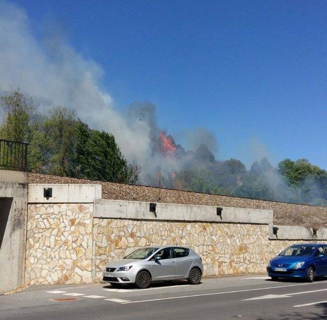 Fuego en Cabrerizos (Salamanca)