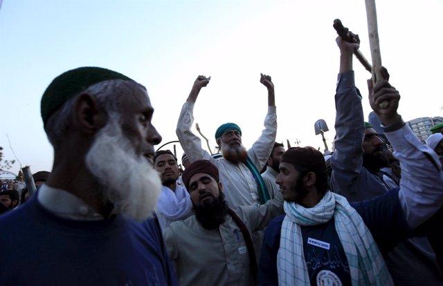 Protestas por un caso de blasfemia en Pakistán
