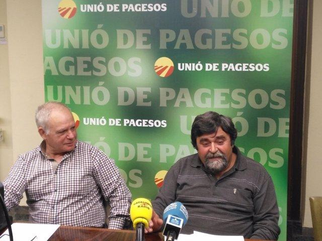 Jose Puig y Santi Querol, ganaderos de Unió de Pagesos