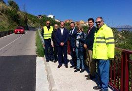 Completada fase de mejora de la carretera hacia El Cortijo con nuevas aceras para aumentar la seguridad vial