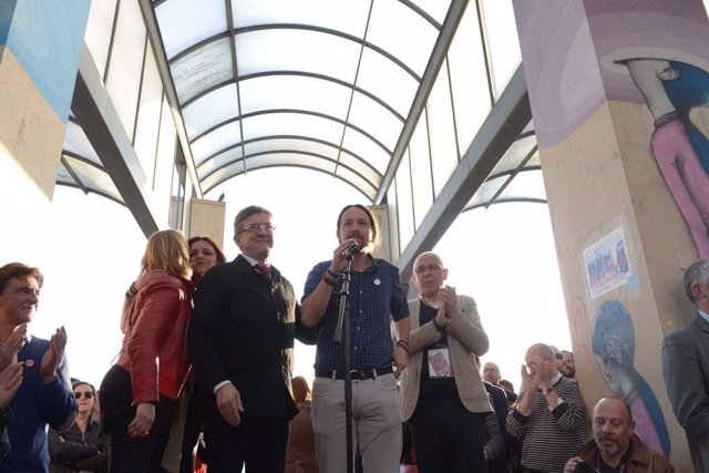 Pablo Iglesias junto a Jean-Luc Mélenchon