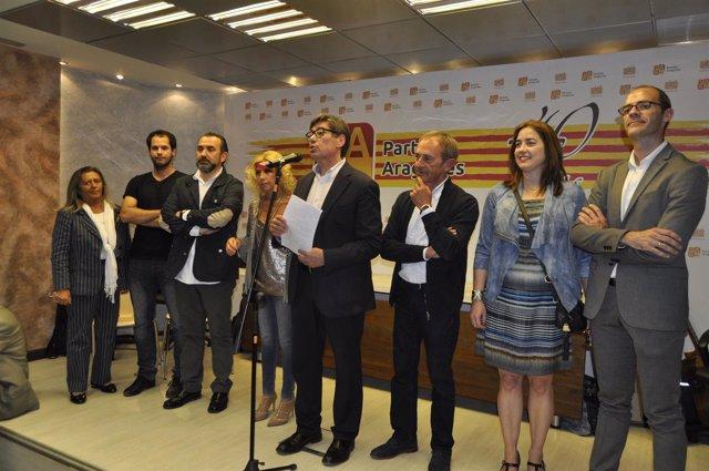 Arturo Aliaga ha presentado el Manifiesto del PAR del 23 de abril.