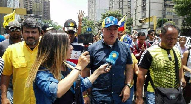 Julio Borges en una de las últimas manifestaciones en Caracas