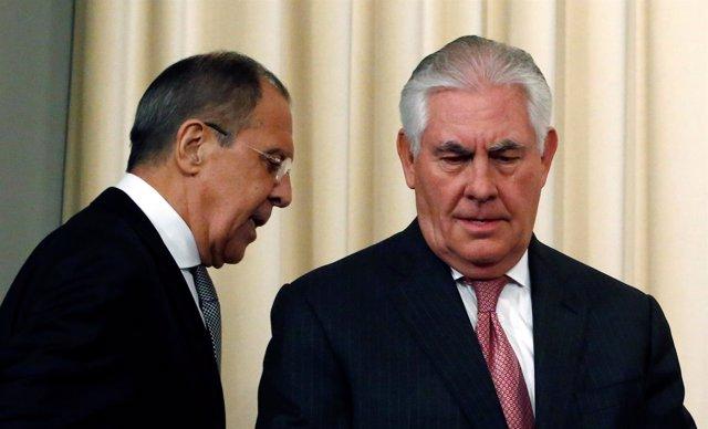 Sergei Lavrov y Rex Tillerson