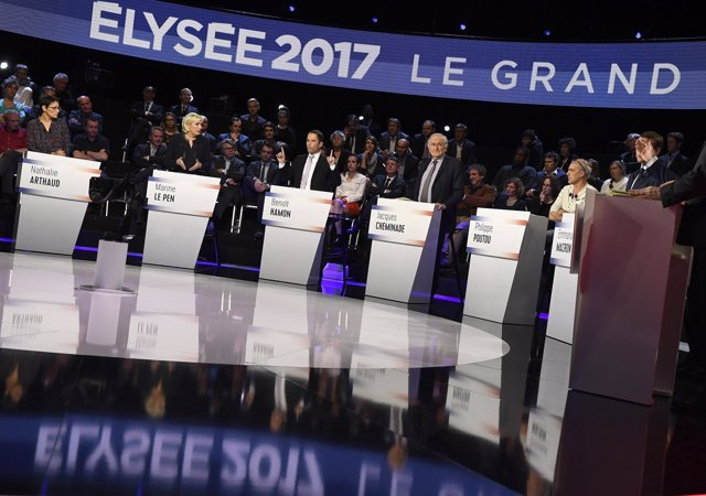 Gran debate presidencial en Francia 2017
