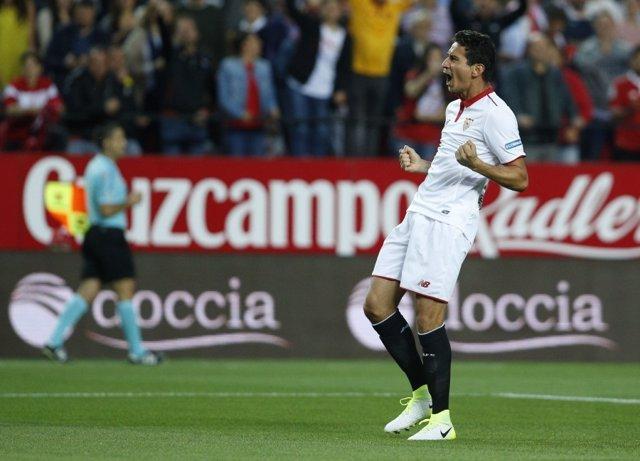 Ganso celebra un doblete con el Sevilla