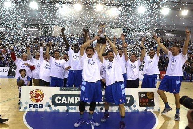 Gipuzkoa Basket, campeón de la Liga LEB