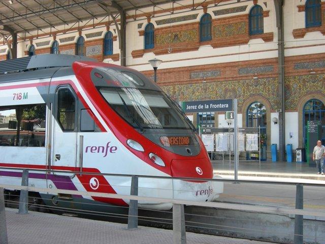 Tren de Cercanías Renfe en Jerez