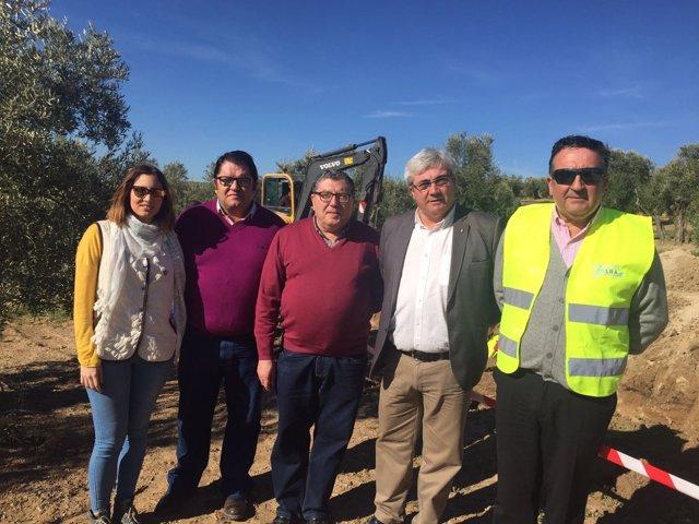 Obras de mejora del abastecimiento de agua en Begíjar (Jaén)