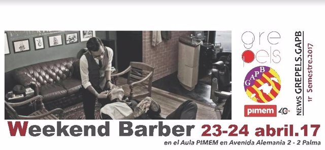 Cartel del I Weekend Barber