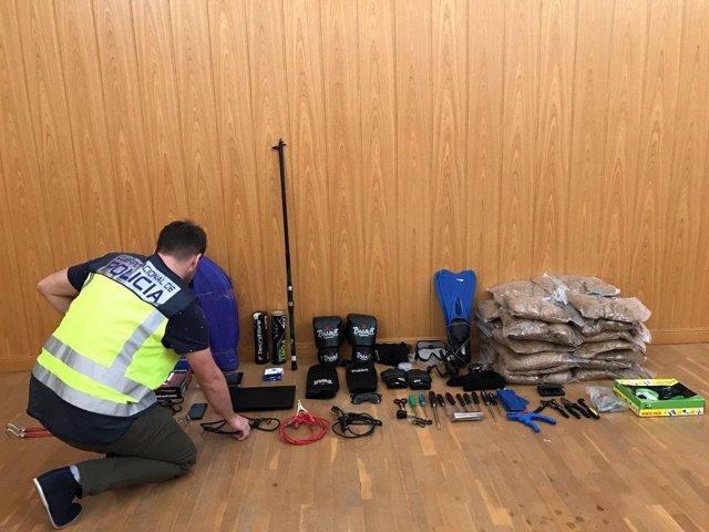 Los ladrones hurtaban incluso en obras en construcción