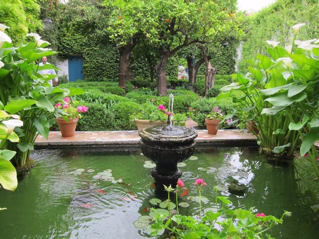 Uno de los patios del Palacio de Viana