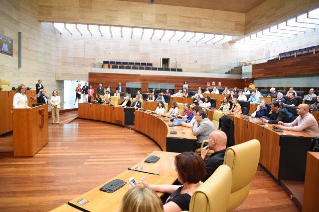Np Presidenta Asamblea Reivindica Un Tren Digno Ante Periodistas De Toda España