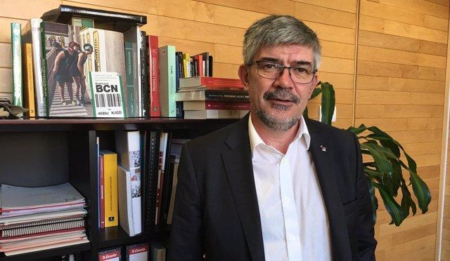 El concejal de Turismo del Ayuntamiento de Barcelona, Agustí Colom