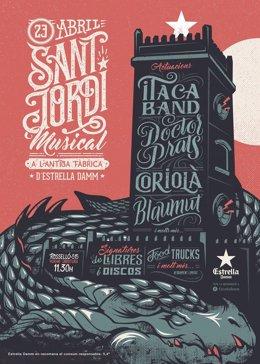 Sant Jordi musical organizado por Damm