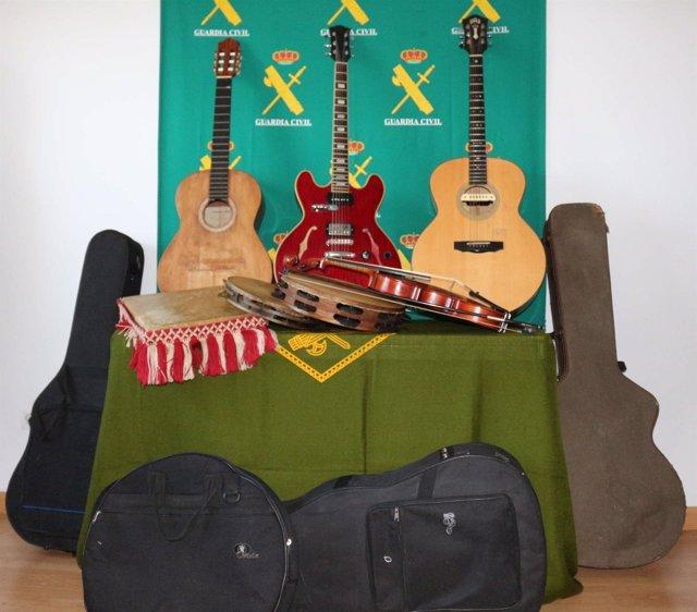 Instrumentos robados.