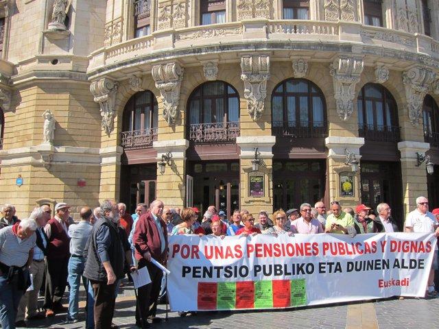 Movilización en Bilbao por unas pensiones dignas