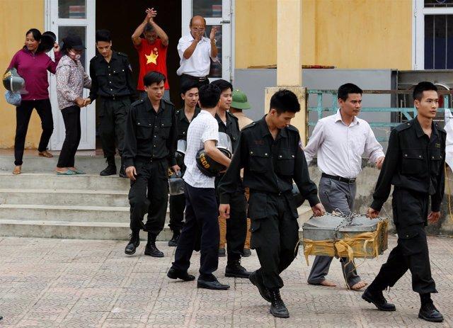 Liberación rehenes en Dong Tam (Vietnam)