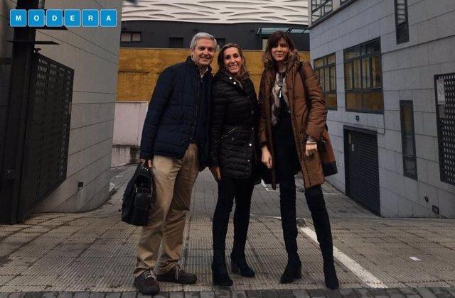 Javier Cabrera, Helena Ruiz y Rosa Vigueras, fundadores de Modera