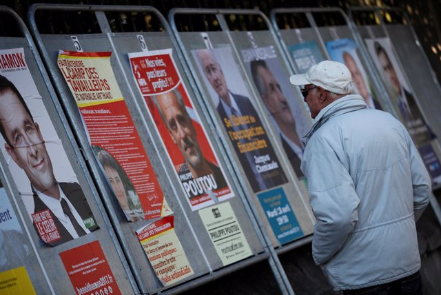 Carteles electorales en Francia