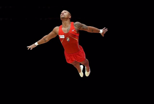 El gimnasta español Rayderley Zapata