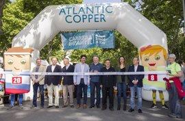 La Fundación Atlantic Copper recauda en Huelva más de 1.600 kilos de alimentos en la carrera 'Kilos x km'