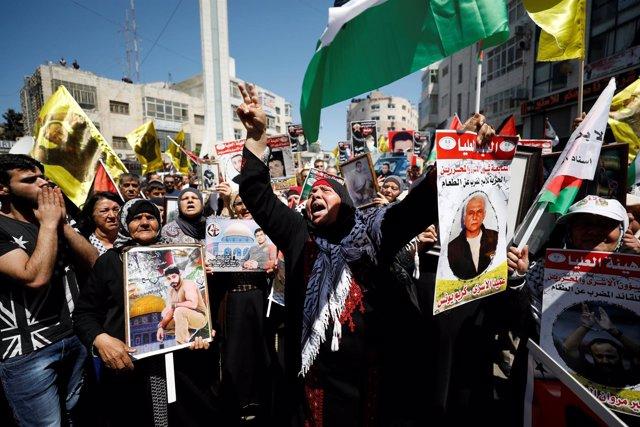 Protestas huelga de hambre palestinos 2017