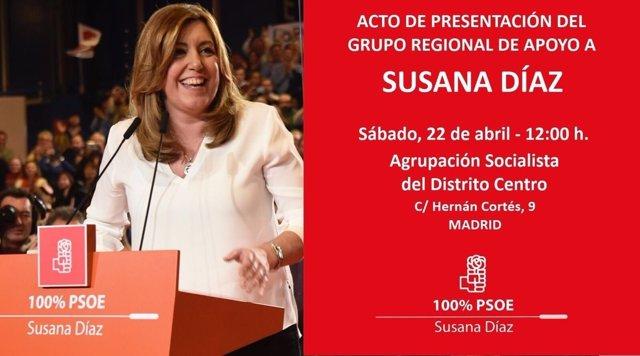 Plataforma madrileña de apoyo a Susana Díaz
