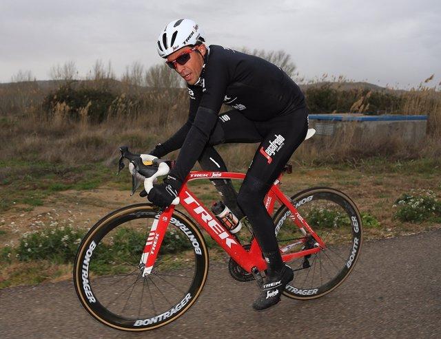 Alberto Contador en un entrenamiento