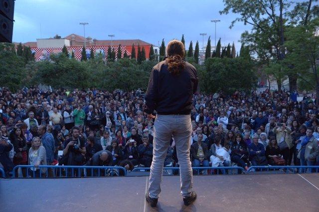 Mitin de Podemos 'Ni Trump, ni Le Pen, ni Gran Coalición'