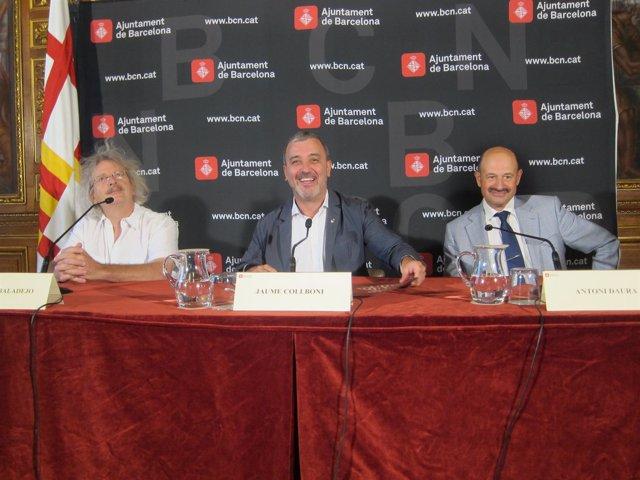 A.Albaladejo (Adetca), J.Collboni (Ayto) y A.Daura (G.Llibreters)