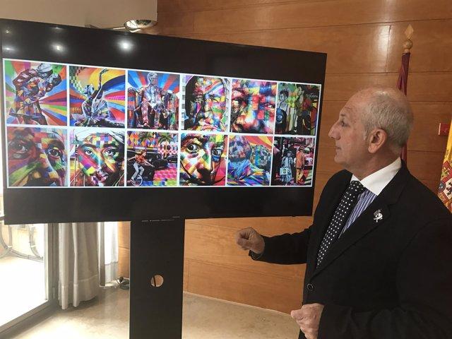 El concejal Roque Ortiz presenta la obra de Kobra
