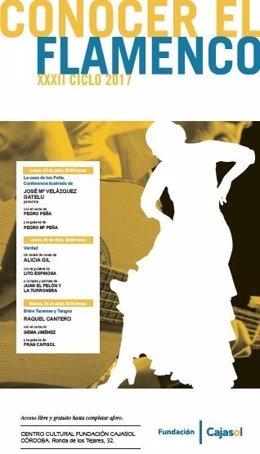 Cartel del XXXII Ciclo Conocer el Flamenco