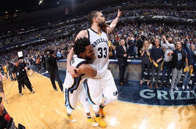 Marc Gasol Mike Conley Memphis Grizzlies NBA play-offs