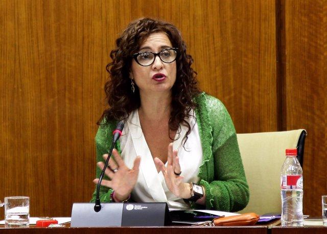 María Jesús Montero, en comisión parlamentaria