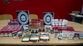 Intervenidas unas 8.000 cajetillas de tabaco de contrabando en tres puntos en Sevilla