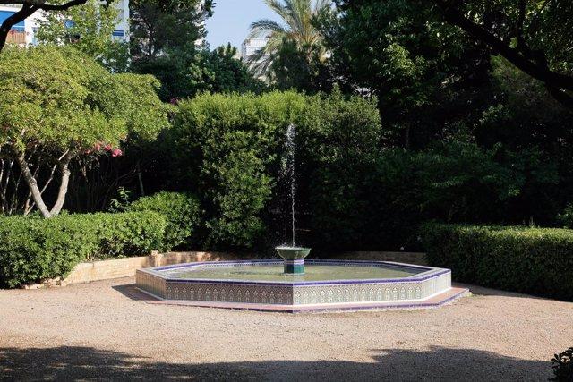 Fuente en los Jardines de Marivent en Palma
