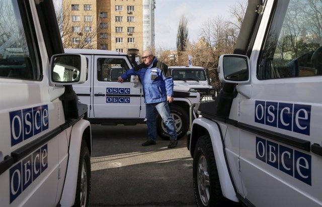 Vehículos de la OSCE en Ucrania