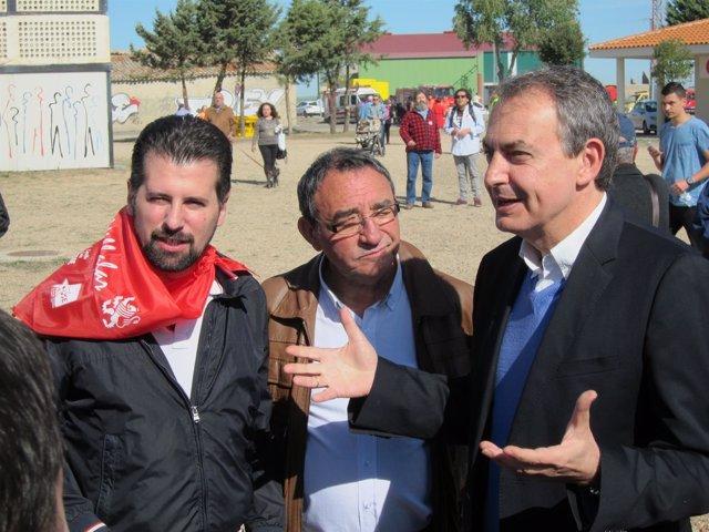 Zapatero Con Tudanca Y El Alcalde De Villalar