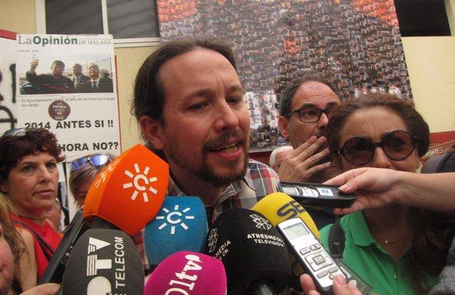 Pablo Iglesias en Málaga