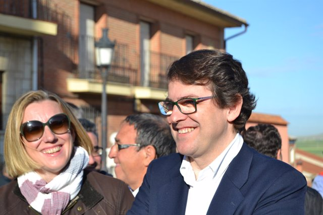 Valladolid. Alfonso Mañueco durante la celebración del Día de Castilla y León