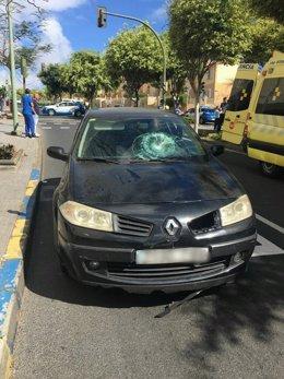 Estado del coche tras el atropello