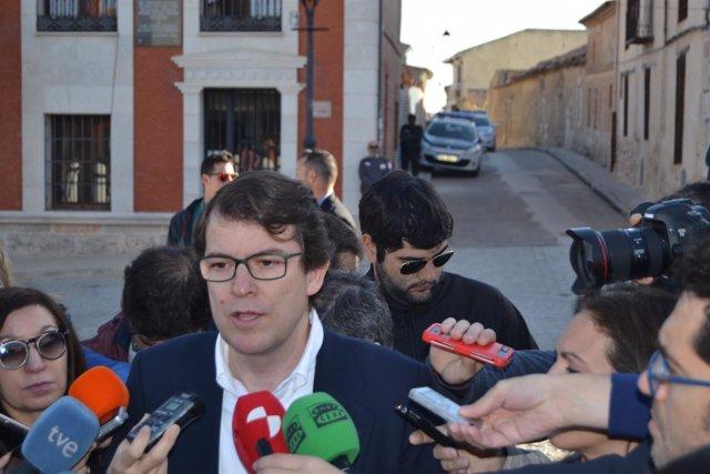 Valladolid. Alfoso Mañueco durante la celebración del Día de la Comunidad