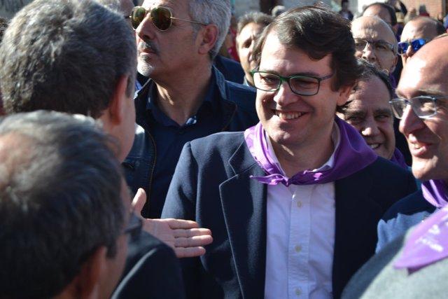 Valladolid. Alfonso Mañueco durante la celebración del Día de la Comunidad