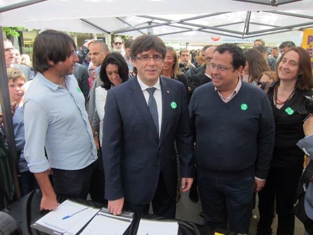 C.Puigdemont pide a los catalanes apoyar el Pacto