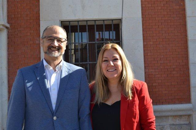 Valladolid. Luis Fuentes y Belén Rosado durante la celebración del Día de la Com