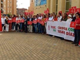 """Socialistas de Córdoba subrayan su apoyo a Susana Díaz para dar """"ilusión"""" al país liderando políticas sociales"""