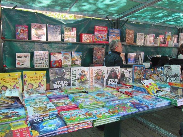 Stand del 'Día del Libro' en Bilbao